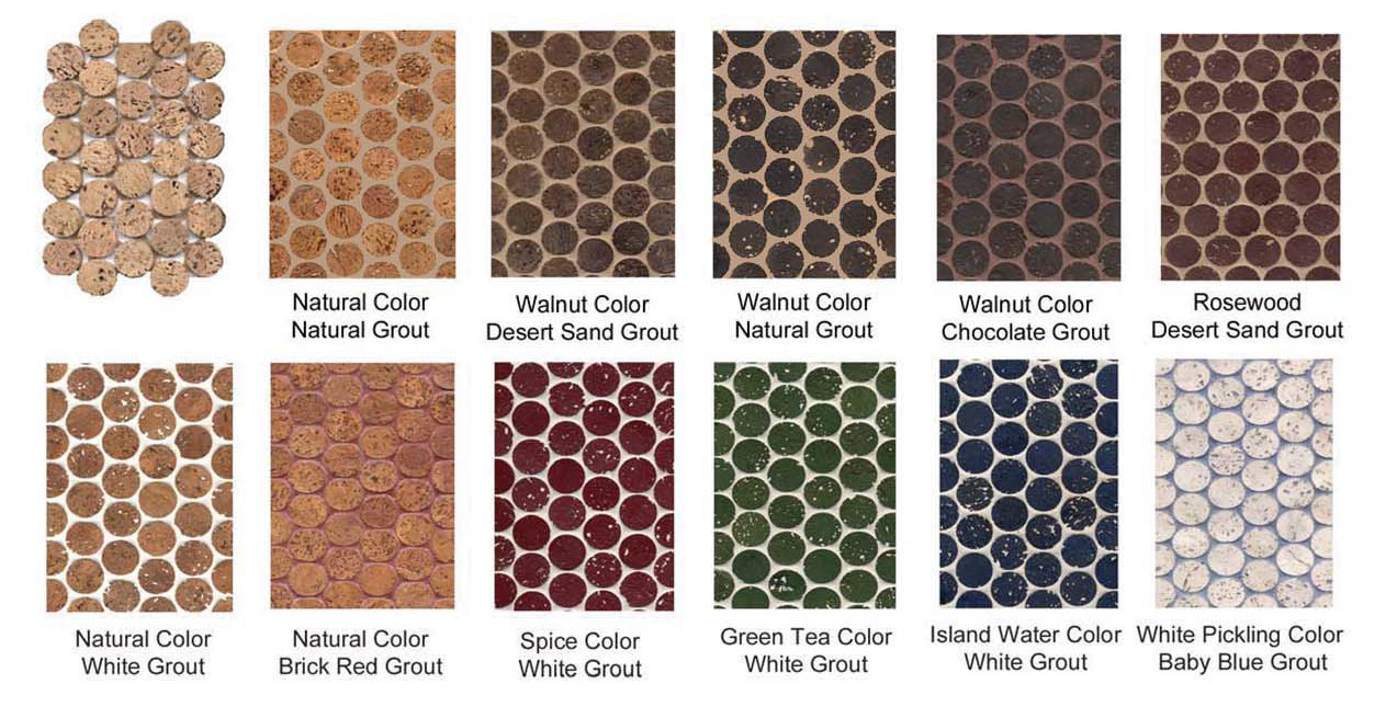 Cork Mosaic color options