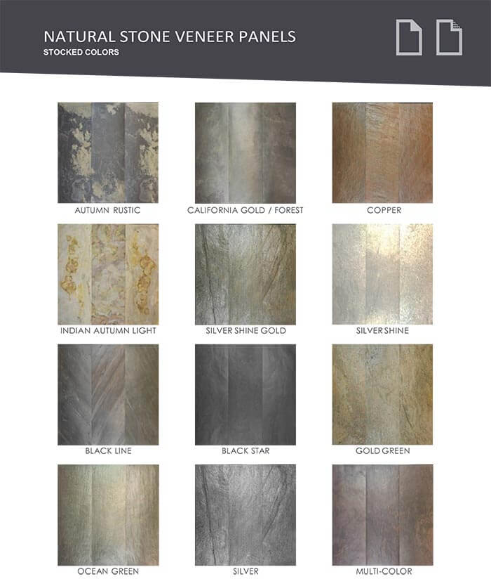VersaLite Stone color options