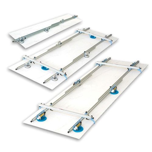 Kera Lift support for handling and laying of large thin slabs